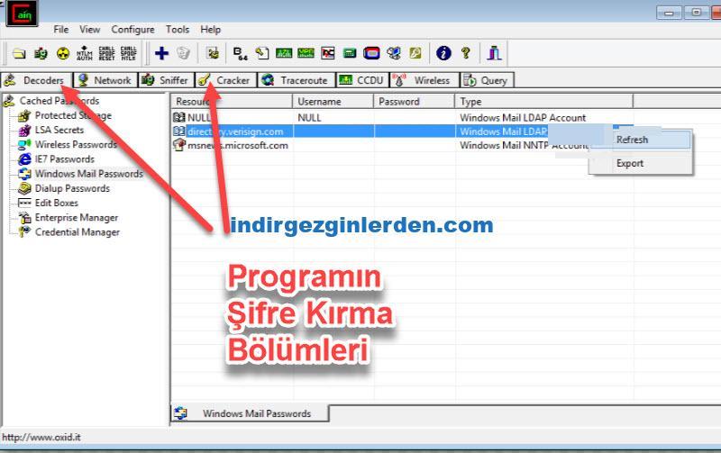 msn şifre kırma programı indir gezginler türkçe