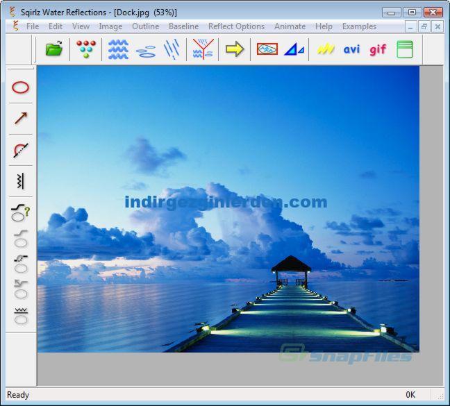 screen capture of Sqirlz Water Reflections